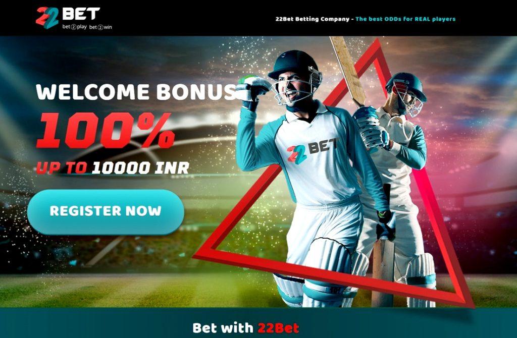 22Bet betting welcome bonus