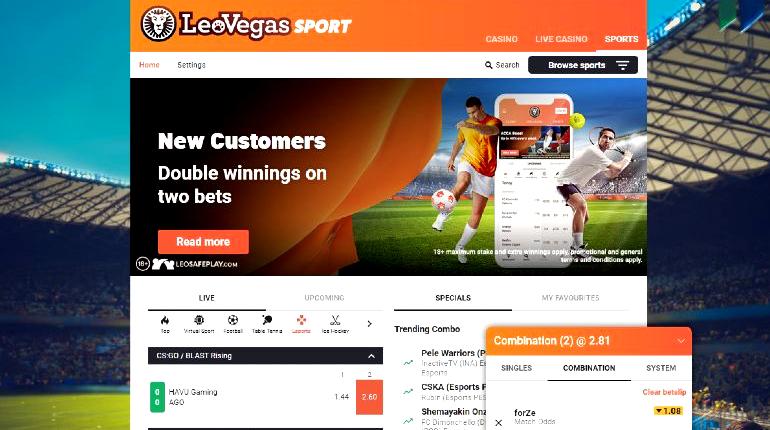 Leovegas betting platform